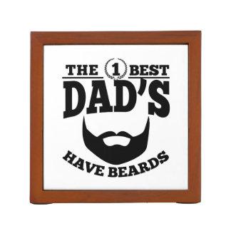 The Best Dad's Have Beards Desk Organiser