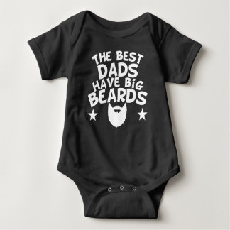 The Best Dads Have Big Beards Baby Bodysuit