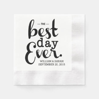 The Best Day Ever Wedding Napkins Disposable Serviettes