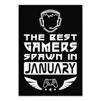 The Best Gamers Spawn in January Card