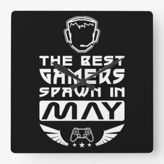 The Best Gamers Spawn in May Square Wall Clock