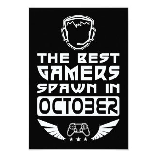 The Best Gamers Spawn in October Card