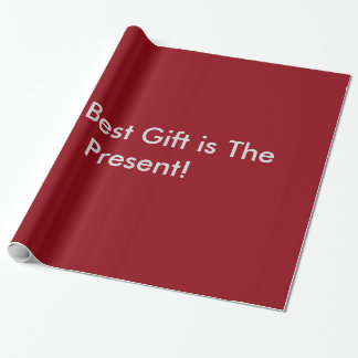 The Best Gift is The Present Wrapping Paper