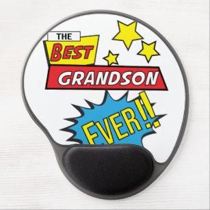 The best grandson ever pop art comic book gel mouse pad