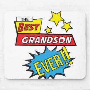 The best grandson ever pop art comic book mouse pad