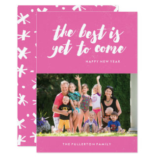The Best Is Yet to Come New Year's Card - Magenta
