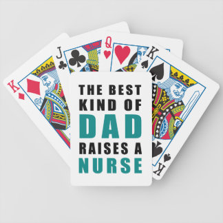 the best kind of dad raises a nurse bicycle playing cards