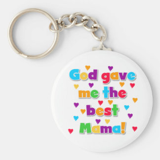 The Best Mama Basic Round Button Key Ring