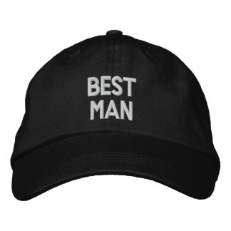 The BEST MAN Personalized Adjustable Hat Embroidered Hats