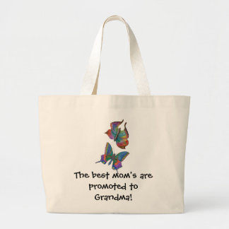 The Best Mom's get Promoted... Jumbo Tote Bag