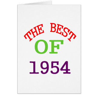 The Best OF 1954 Card