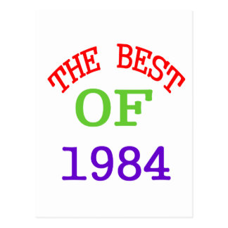 The Best OF 1984 Postcard