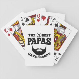 The Best Papas Have Beards Playing Cards