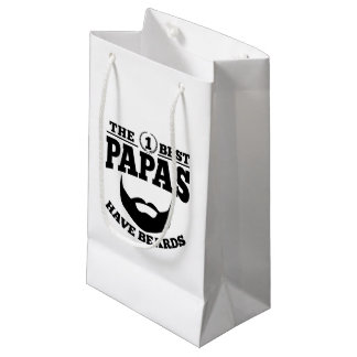 The Best Papas Have Beards Small Gift Bag