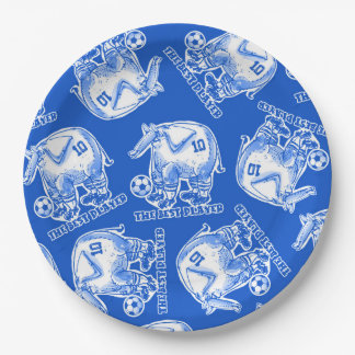 the best player elephant cartoon paper plate