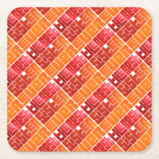 The Best Sister Ever Funky Greeting Square Paper Coaster