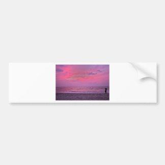 the best sunset since coming here.jpg bumper sticker