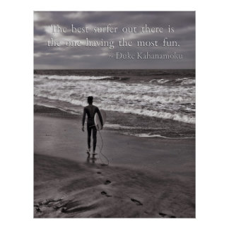 The best surfer out there poster
