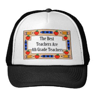 The Best Teachers Are 4th Grade Teachers Mesh Hat