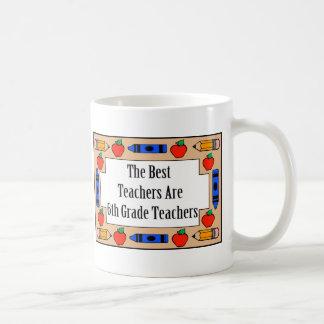 The Best Teachers Are 6th Grade Teachers Basic White Mug