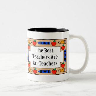 The Best Teachers Are Art Teachers Two-Tone Coffee Mug