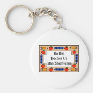 The Best Teachers Are Catholic School Teachers Basic Round Button Key Ring