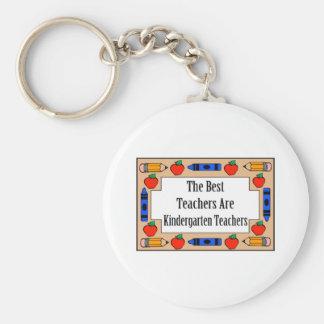 The Best Teachers Are Kindergarten Teachers Basic Round Button Key Ring