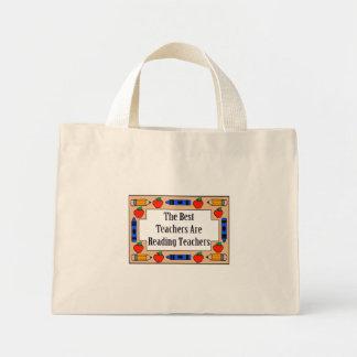 The Best Teachers Are Reading Teachers Mini Tote Bag
