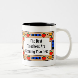 The Best Teachers Are Reading Teachers Two-Tone Coffee Mug