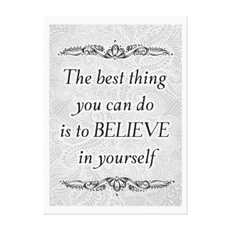 The best thing - Positive Quote´s Canvas Print