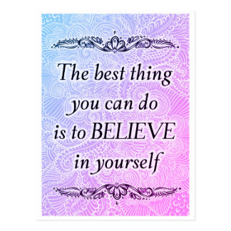 The best thing - Positive Quote´s Postcard