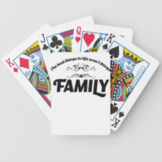 the best things in life is Family Bicycle Playing Cards