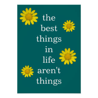 The Best Things in Life Poster