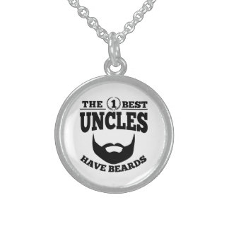 The Best Uncles Have Beards Sterling Silver Necklace