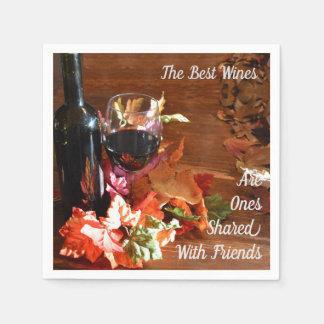 The Best Wines Napkins Disposable Serviette