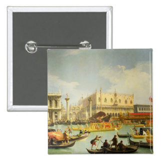 The Betrothal of the Venetian Doge 15 Cm Square Badge