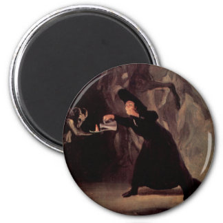 The Bewitched Man By Francisco Goya 1798 6 Cm Round Magnet