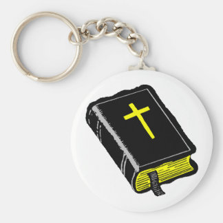 The Bible Basic Round Button Key Ring