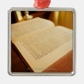 The Bible Silver-Colored Square Decoration