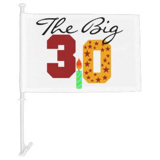 The Big 3 0 30th Birthday Car Flag