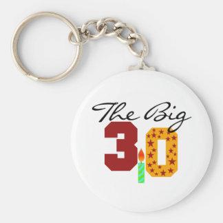 The Big 3-0 Key Chain