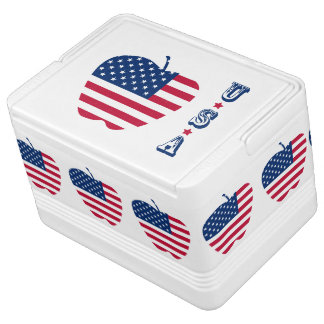 The Big Apple America flag NYC Cooler