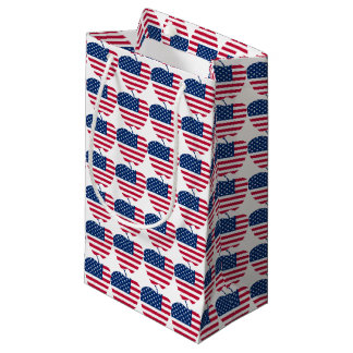 The Big Apple America flag NYC Small Gift Bag
