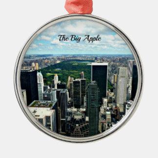 The Big Apple, New York City Metal Ornament