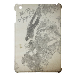 The Big Apple NYC Streets Vintage Design Cover iPad Mini Case
