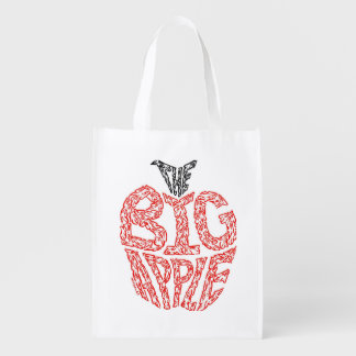 THE BIG APPLE REUSABLE GROCERY BAG