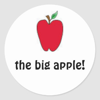 the big apple stickers