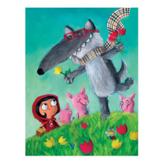 The Big Bad Wolf Postcard
