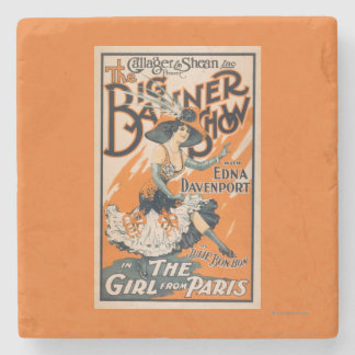 "The Big Banner Show ""The girl from Paris"" Stone Coaster"