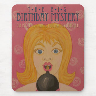 The Big Birthday Mystery: Funny Book Cover Art Mouse Pad
